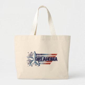 Vintage USA Flag with Star – Oklahoma Tote Bags