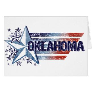 Vintage USA Flag with Star – Oklahoma Card