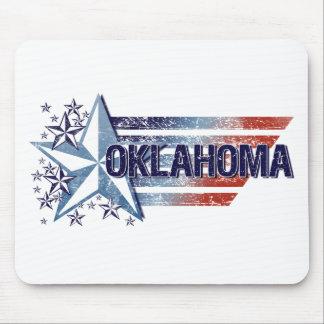 Vintage USA Flag with Star – Oklahoma Mousepad