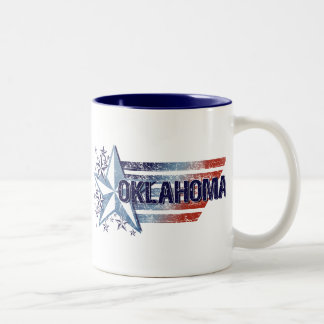 Vintage USA Flag with Star – Oklahoma Mugs