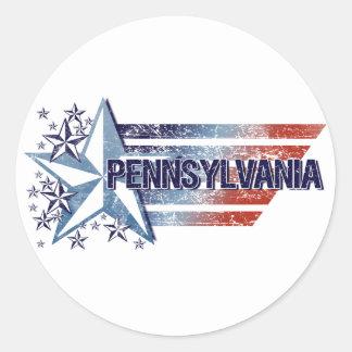 Vintage USA Flag with Star – Pennsylvania Stickers
