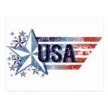 Vintage USA Flag with Star Postcards