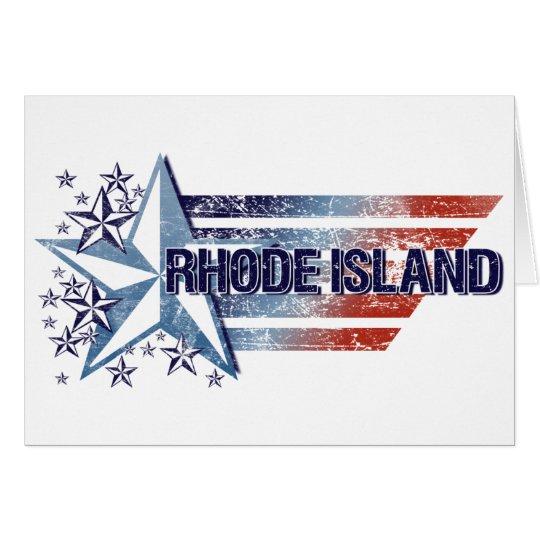 Vintage USA Flag with Star – Rhode Island Card