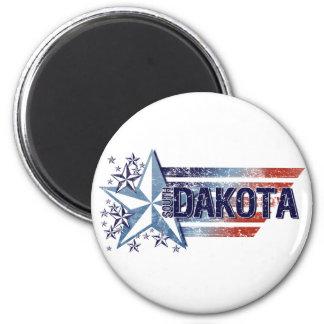 Vintage USA Flag with Star – South Dakota Magnet