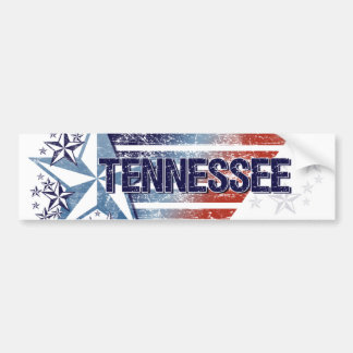 Vintage USA Flag with Star – Tennessee Car Bumper Sticker