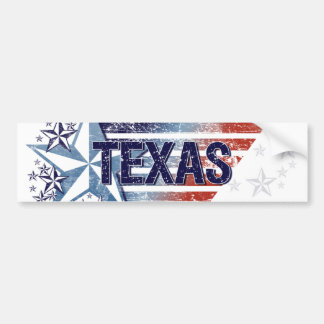 Vintage USA Flag with Star – Texas Bumper Sticker