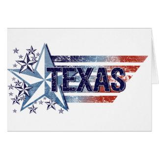 Vintage USA Flag with Star – Texas Card