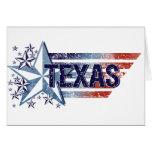 Vintage USA Flag with Star – Texas Greeting Card
