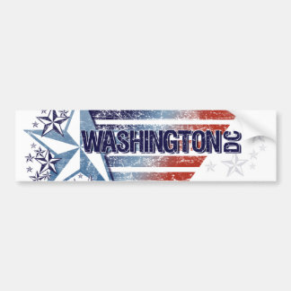Vintage USA Flag with Star – Washington D.C. Bumper Stickers