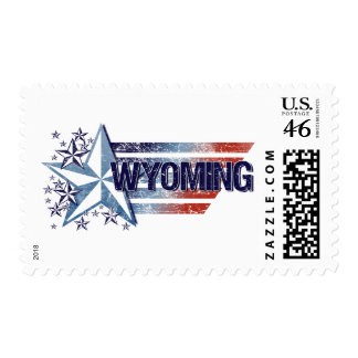 Vintage USA Flag with Star – Wyoming Postage Stamps