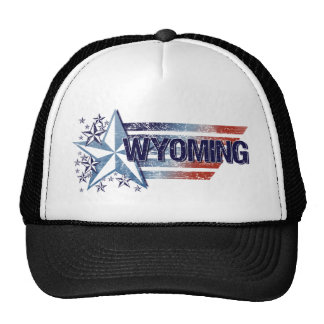 Vintage USA Flag with Star – Wyoming Trucker Hat