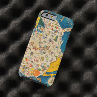 Vintage USA Food Map Tough iPhone 6 Case