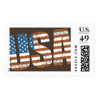 Vintage USA Letters with The American Flag Postage