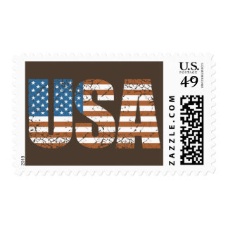Vintage USA Letters with The American Flag Postage Stamps