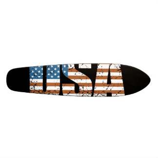 Vintage USA Letters with The American Flag Skateboard