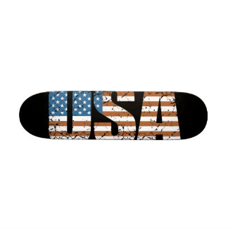 Vintage USA Letters with The American Flag Skateboard Deck