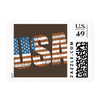 Vintage USA Letters with The American Flag Stamps