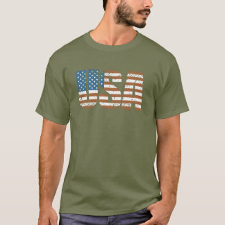 Vintage USA Letters with The American Flag T-Shirt