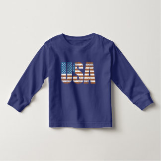 Vintage USA Letters with The American Flag Toddler T-shirt