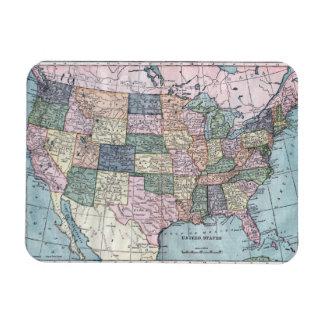 Vintage USA Map Magnet