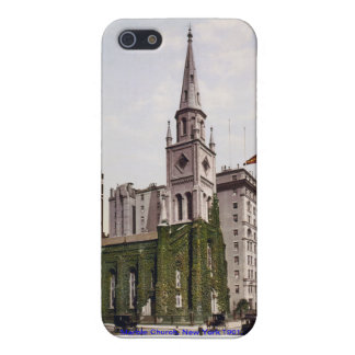 Vintage USA, Marble Church New York, iPhone case