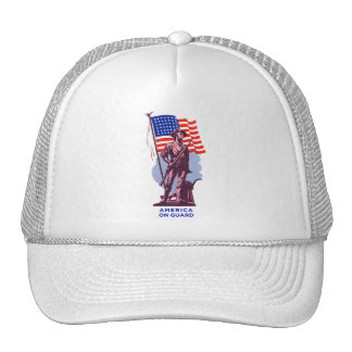 Vintage USA Minutemen America on Guard Patriotism Trucker Hat