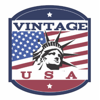 Vintage USA Retro Badge Cutout