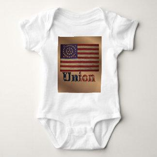 Vintage USA Retro Union Flag Baby Bodysuit