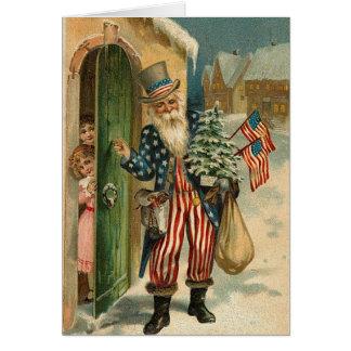 Vintage USA Santa Greeting Card