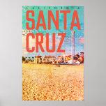 Vintage USA Travel Poster - Santa Cruz