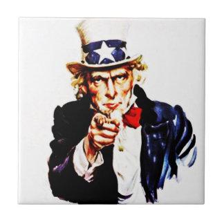 Vintage USA Uncle Sam Wants You Points Tile
