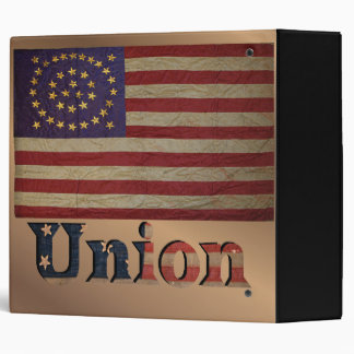 Vintage USA Union Flag Logo Binder
