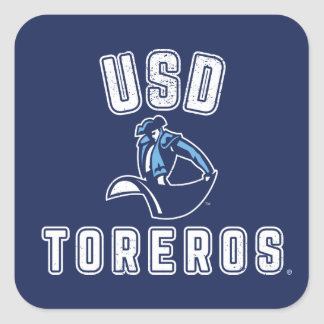 Vintage USD Toreros Square Sticker