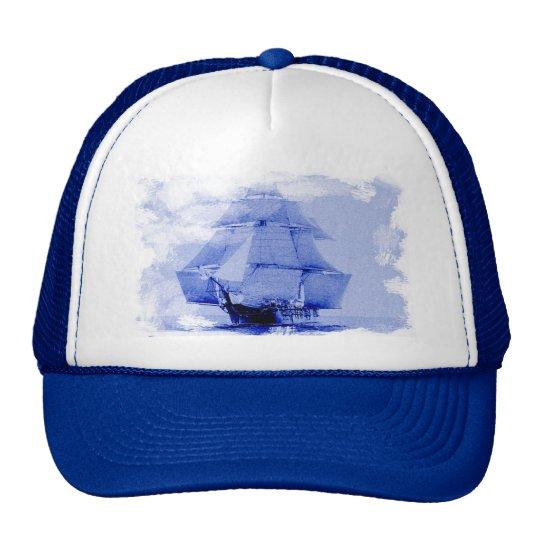 Vintage  USS Monongahela Sailing Ship Cap Trucker Hat