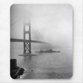 Vintage USS San Francisco Golden Gate Bridge Mouse Pad