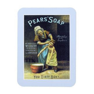 Vintage usted publicidad sucia del jabón del imán foto rectangular