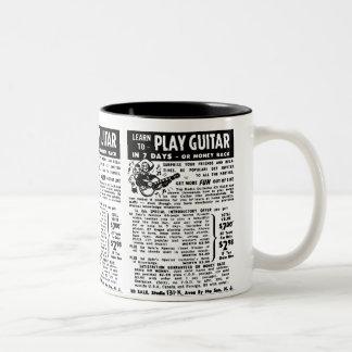 Vintage usted sabe jugar la obra clásica del taza de dos tonos