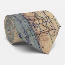 Vintage Utah Beach D-Day Invasion Map (1944) Tie