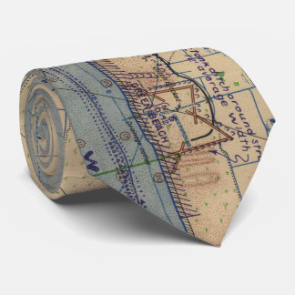Vintage Utah Beach D-Day Invasion Map (1944) Tie