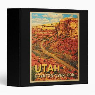 Vintage Utah Boynton Overlook 3 Ring Binder