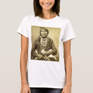 Vintage Ute Indian Poker Player with Pistol T-Shirt