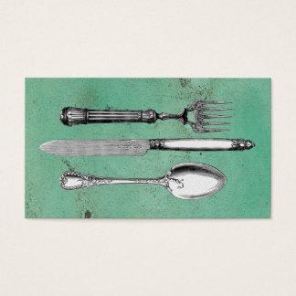Vintage Utensil Art Business Card