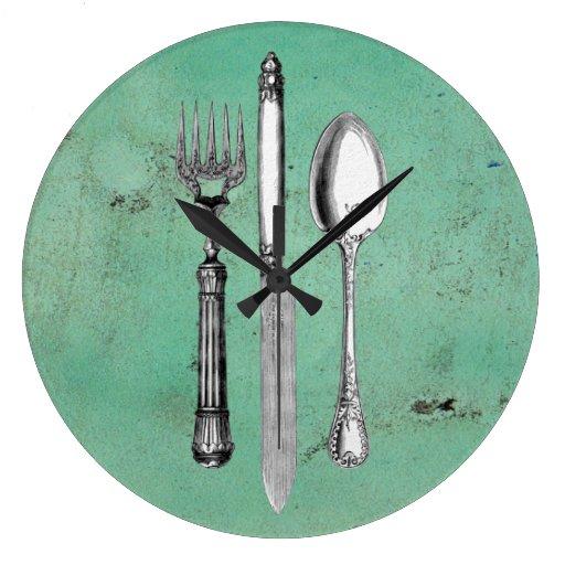 Vintage Utensil Art Clock