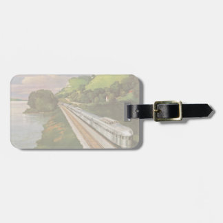 Vintage Vacation by Train, Locomotive in Country Bag Tag