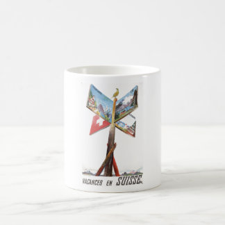 Vintage Vacation in Switzerland Coffee Mug