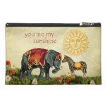 Vintage Valentine Animals in Love Collage Travel Accessories Bag