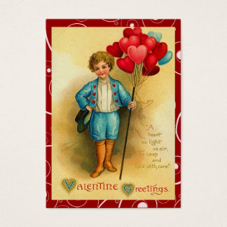 Vintage Valentine Balloons Love Notes Business Card