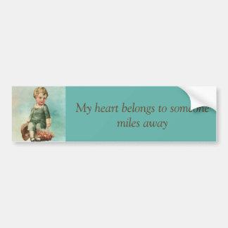 Vintage Valentine Boy Bumper Sticker