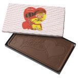 Vintage Valentine Boy I'm Hunting For You Retro Milk Chocolate Bar