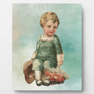 Vintage Valentine Boy Plaque